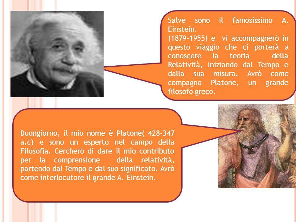 Salve sono il famosissimo A. Einstein. (1879-1955) e vi accompagnerò in questo viaggio che ci porterà a conoscere la teoria della Relatività, Iniziand