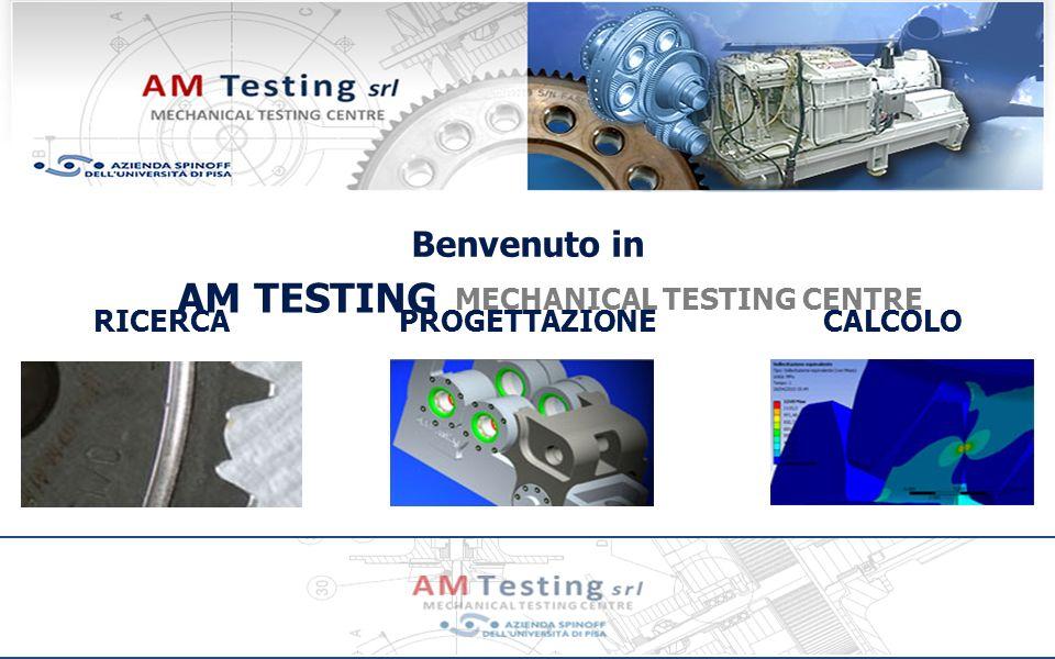 Contatti AM Testing C/o Laboratorio Scalbatraio del DIMNP, Via Di Torretta, San Piero a Grado, 56122 Pisa, Italia Tel: +39 050 32795, Fax: +39 050 38351215, e-mail: info@amtesting.net web: www.amtesting.it Dott.