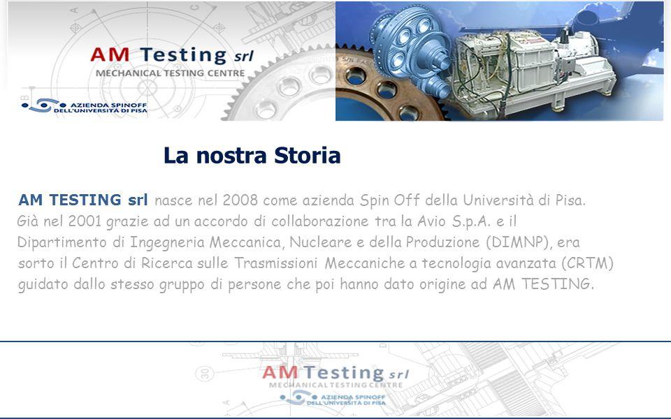 La nostra Storia AM TESTING srl nasce nel 2008 come azienda Spin Off della Università di Pisa.