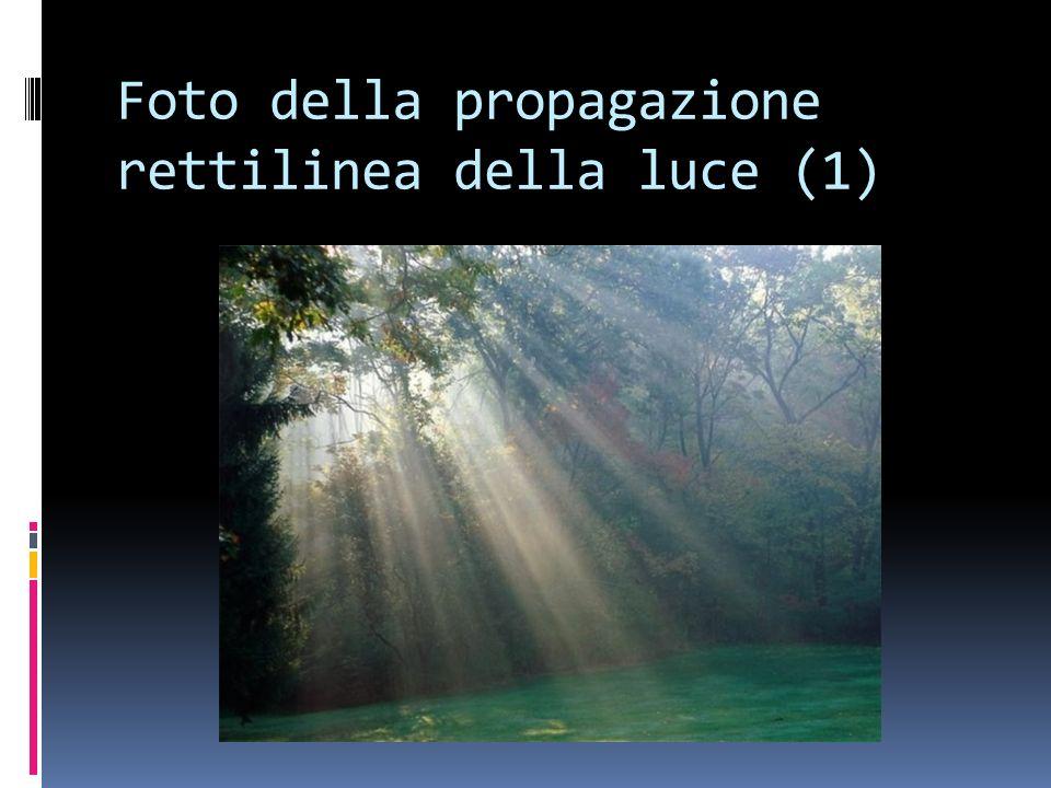 Foto della propagazione rettilinea della luce (1)
