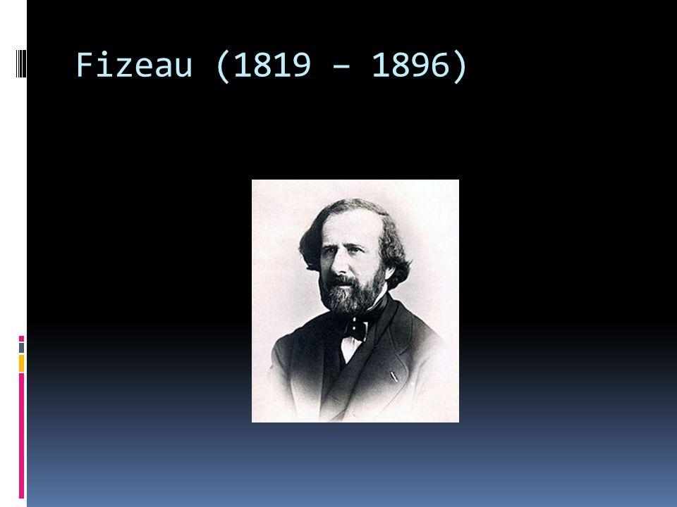 Fizeau (1819 – 1896)