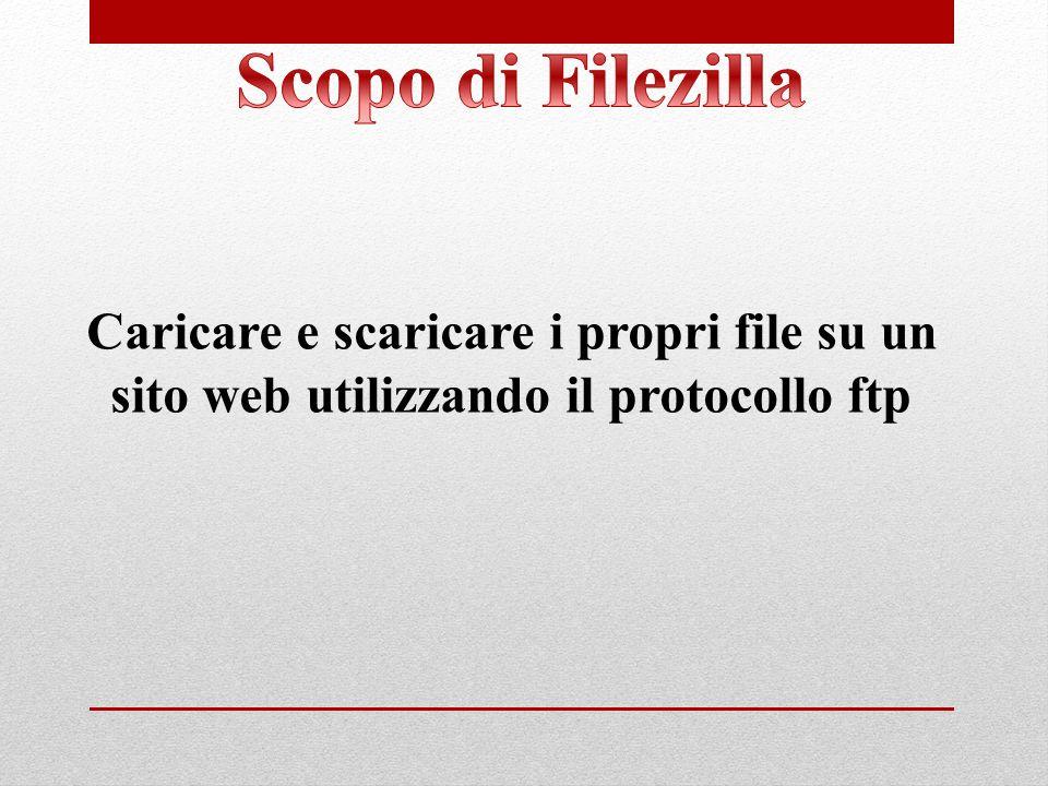 Caricare e scaricare i propri file su un sito web utilizzando il protocollo ftp