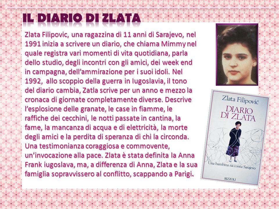Zlata Filipovic, una ragazzina di 11 anni di Sarajevo, nel 1991 inizia a scrivere un diario, che chiama Mimmy nel quale registra vari momenti di vita