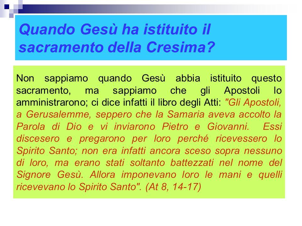 Il ministro della Cresima Il ministro ordinario della Cresima è il Vescovo o un sacerdote da lui delegato. Qualora un cristiano si trovi in pericolo d