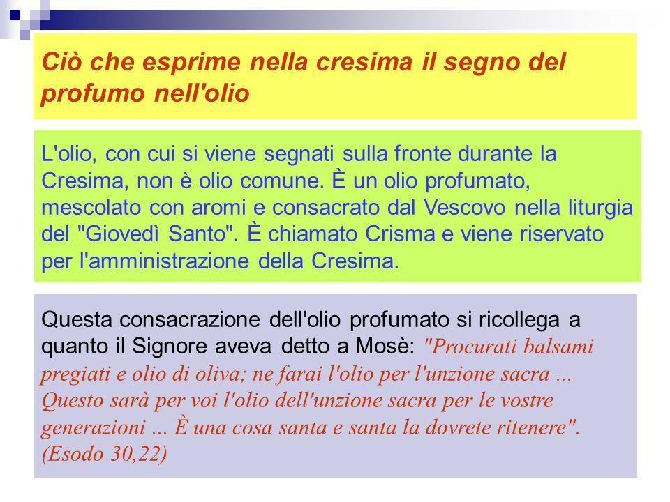 Nello stesso tempo la presenza dello Spirito Santo ci affida un compito, come è stato per Davide, Aronne... Ogni dono di Dio è in funzione del