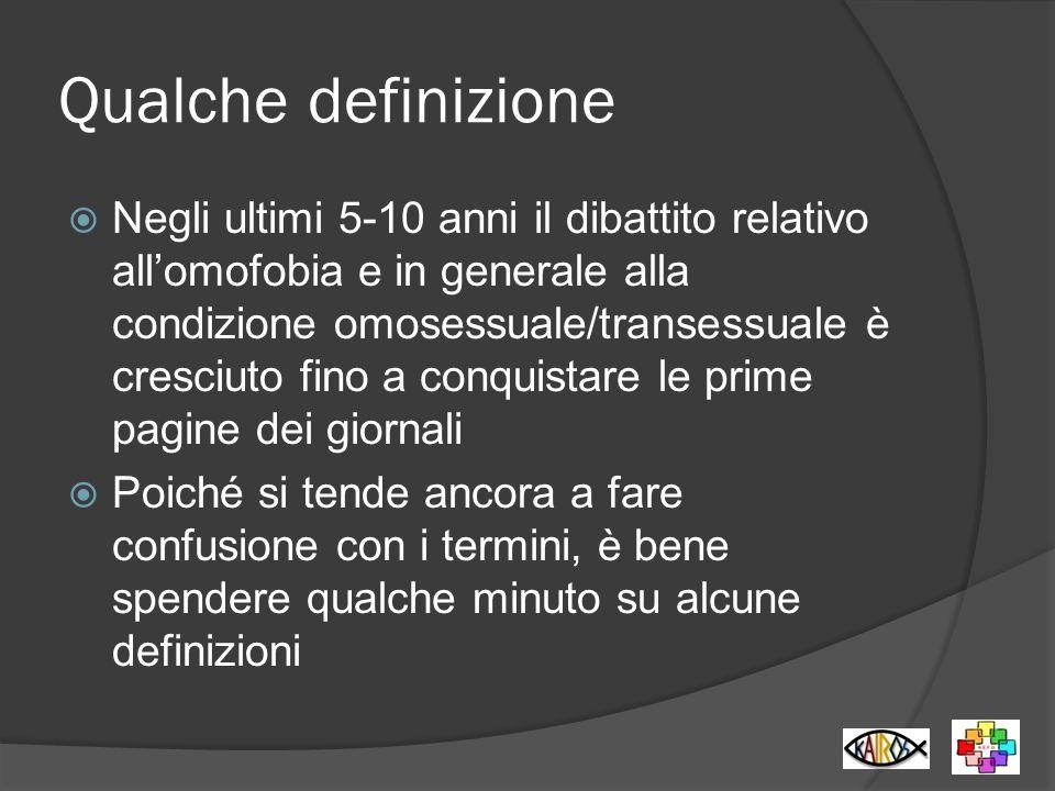 Orientamento sessuale Con il termine orientamento sessuale si indica l attrazione emozionale, romantica e/o sessuale di una persona verso individui dello stesso sesso, di sesso opposto o entrambi.