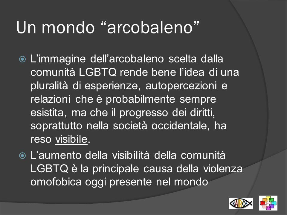 Un mondo arcobaleno Limmagine dellarcobaleno scelta dalla comunità LGBTQ rende bene lidea di una pluralità di esperienze, autopercezioni e relazioni c