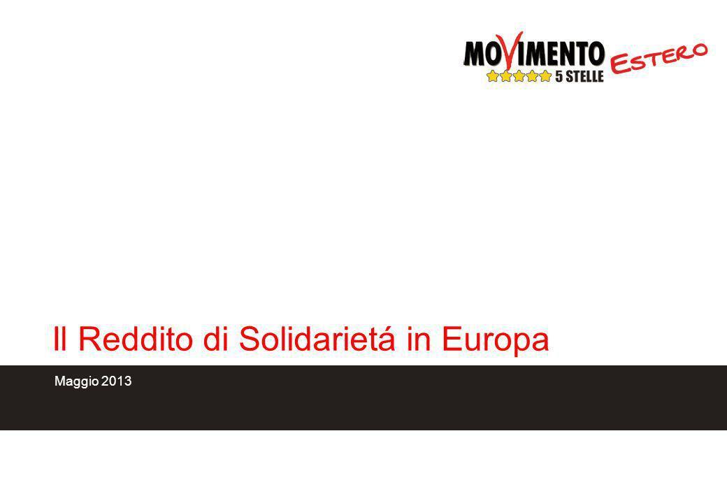 Il Reddito di Solidarietá in Europa Maggio 2013
