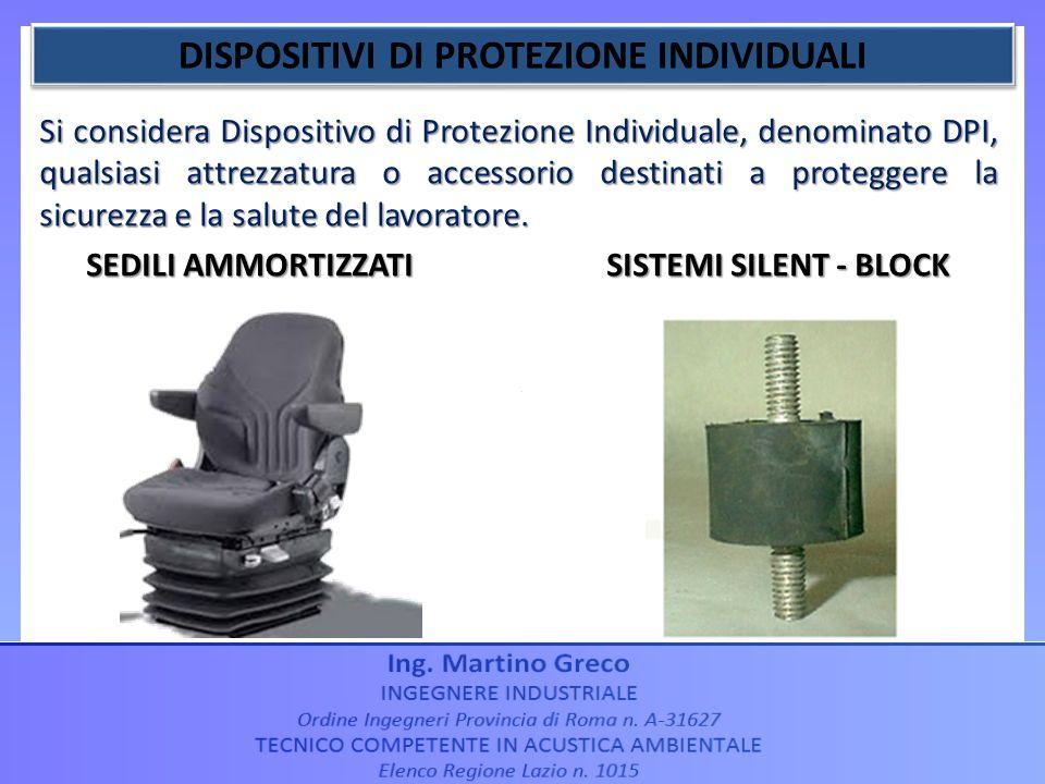Si considera Dispositivo di Protezione Individuale, denominato DPI, qualsiasi attrezzatura o accessorio destinati a proteggere la sicurezza e la salut