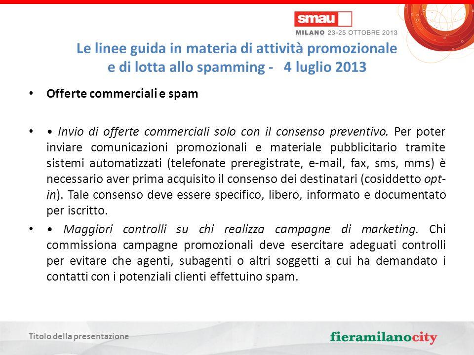 Titolo della presentazione Per informazioni, aggiornamenti e approfondimenti www.maglio.eu info@maglio.eu (il blog, il Gruppo in Linkedin e il progetto editoriale) GRAZIE !
