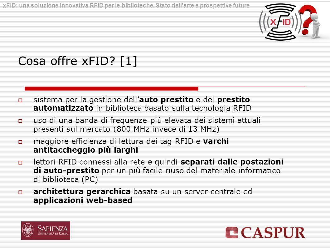 Cosa offre xFID? [1] sistema per la gestione dellauto prestito e del prestito automatizzato in biblioteca basato sulla tecnologia RFID uso di una band