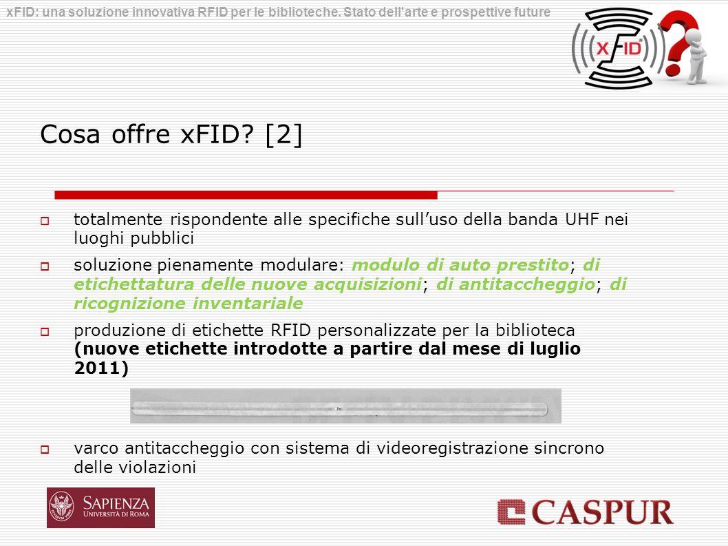 Cosa offre xFID? [2] totalmente rispondente alle specifiche sulluso della banda UHF nei luoghi pubblici soluzione pienamente modulare: modulo di auto