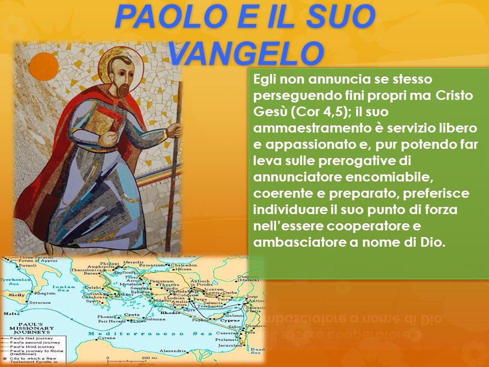 PAOLO E IL SUO VANGELO