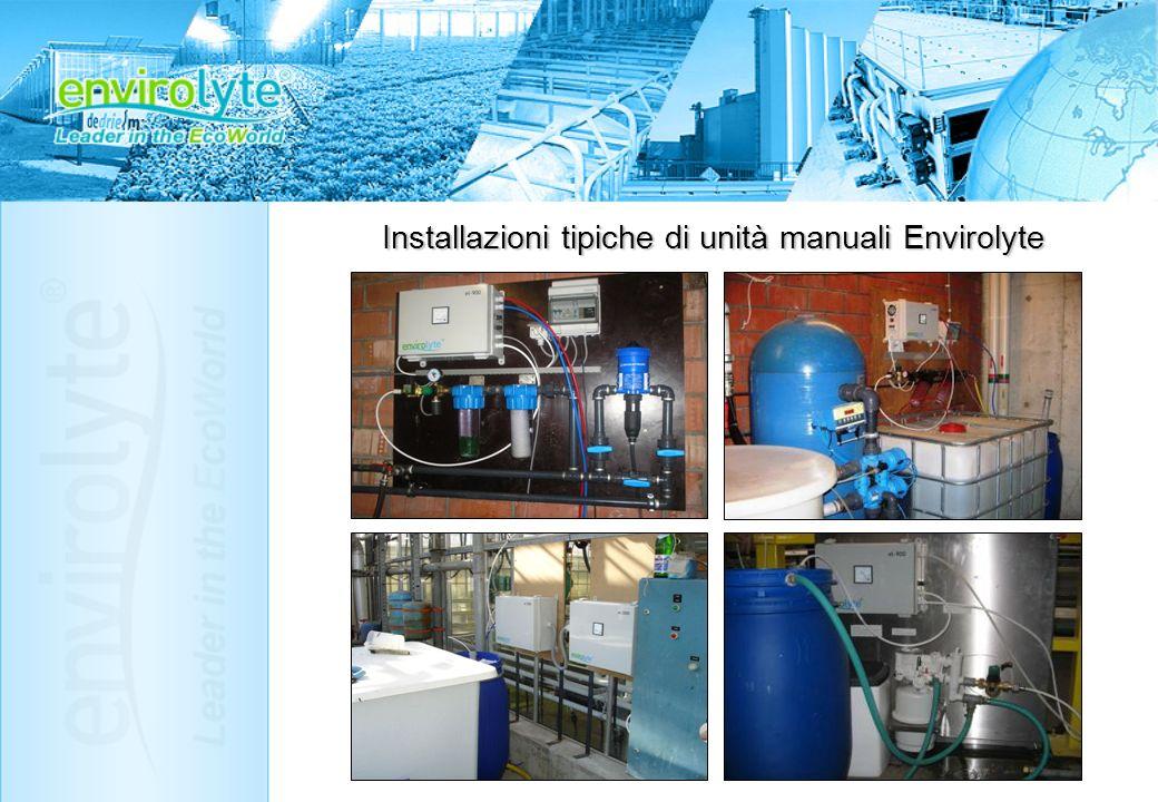 Installazioni tipiche di unità manuali Envirolyte
