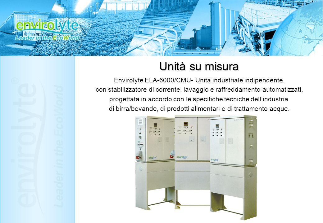Envirolyte ELA-6000/CMU- Unità industriale indipendente, con stabilizzatore di corrente, lavaggio e raffreddamento automatizzati, progettata in accord