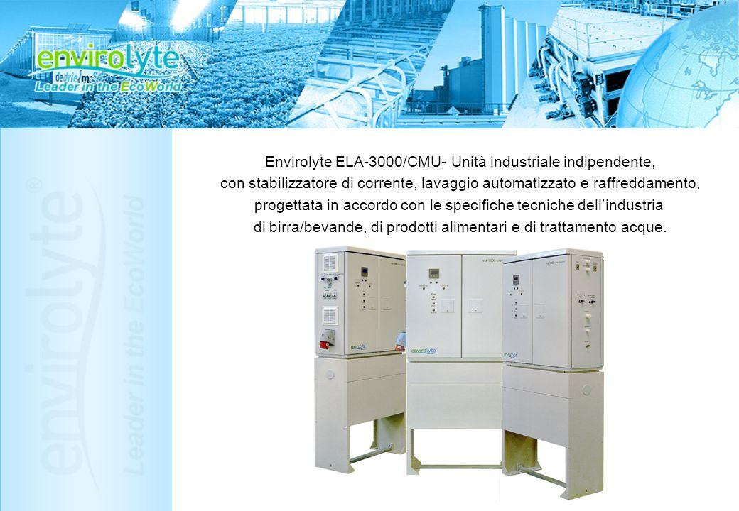 Envirolyte ELA-3000/CMU- Unità industriale indipendente, con stabilizzatore di corrente, lavaggio automatizzato e raffreddamento, progettata in accord