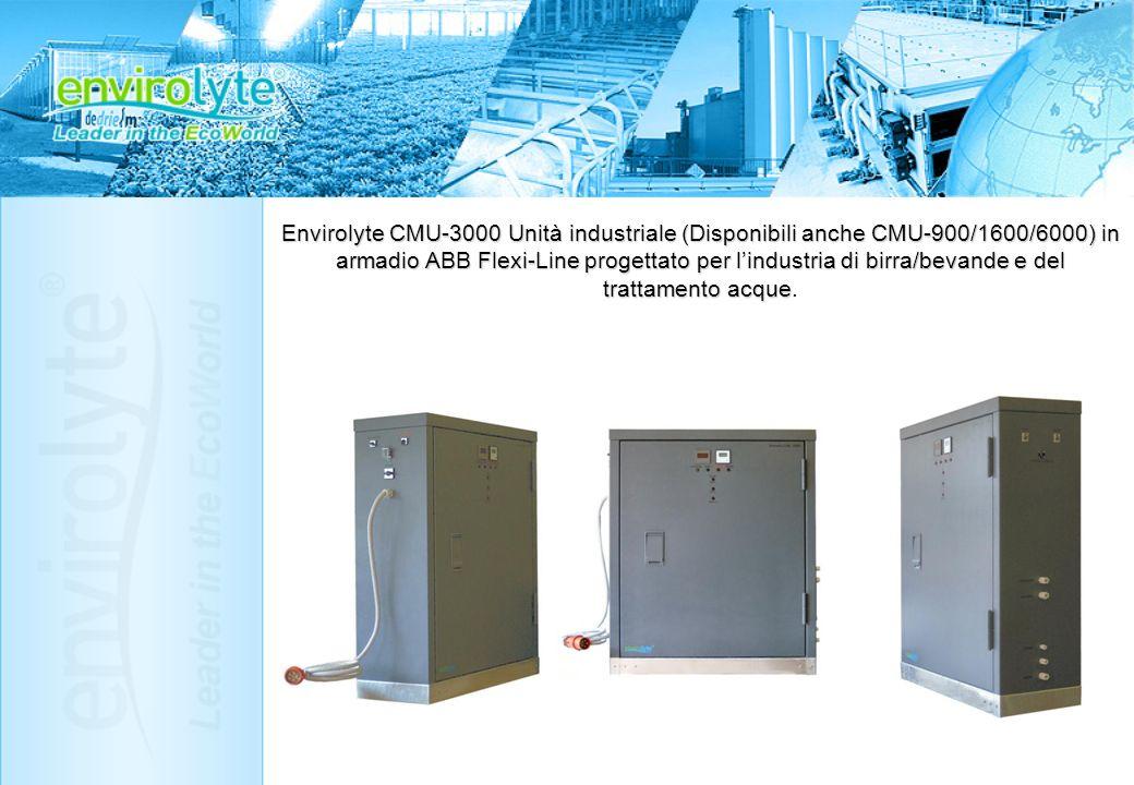 Envirolyte CMU-3000 Unità industriale (Disponibili anche CMU-900/1600/6000) in armadio ABB Flexi-Line progettato per lindustria di birra/bevande e del