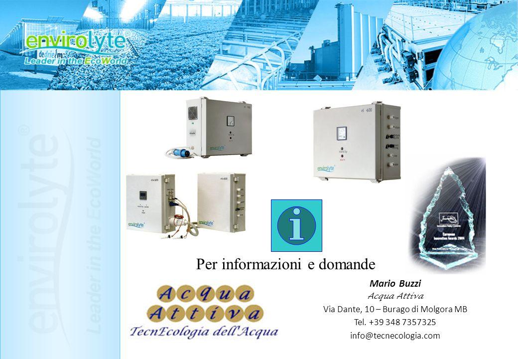 Per informazioni e domande Mario Buzzi A cqua A ttiva Via Dante, 10 – Burago di Molgora MB Tel. +39 348 7357325 info@tecnecologia.com