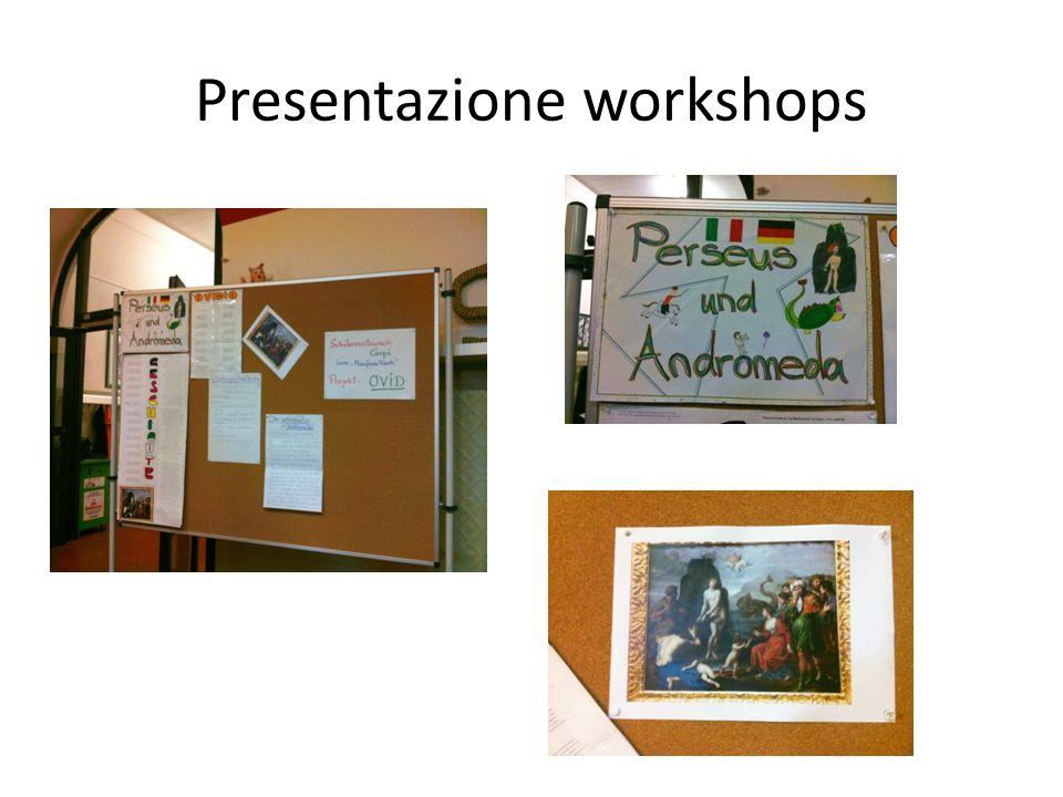 Presentazione workshops