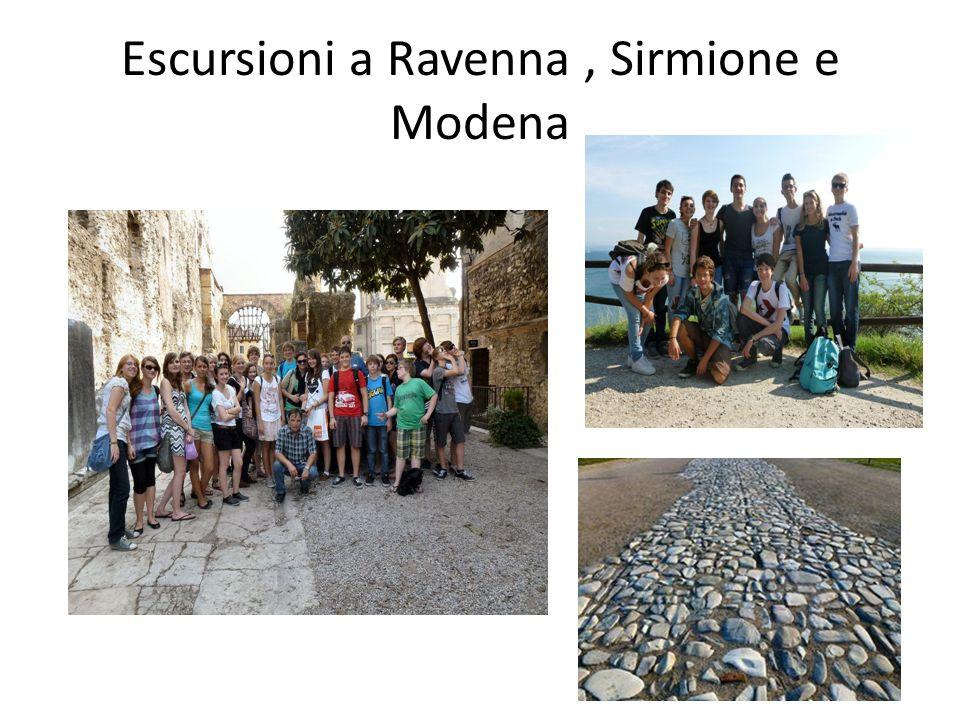 Escursioni a Ravenna, Sirmione e Modena