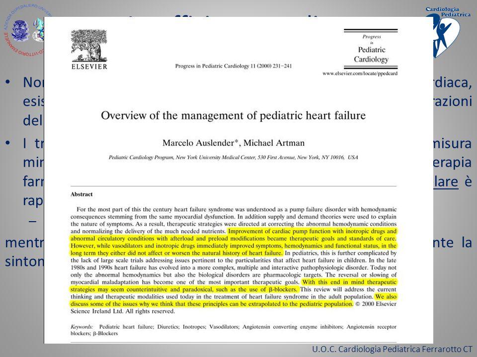 U.O.C. Cardiologia Pediatrica Ferrarotto CT Insufficienza cardiaca Beta Bloccanti Nonostante le differenze nell'eziologia dellinsufficienza cardiaca,