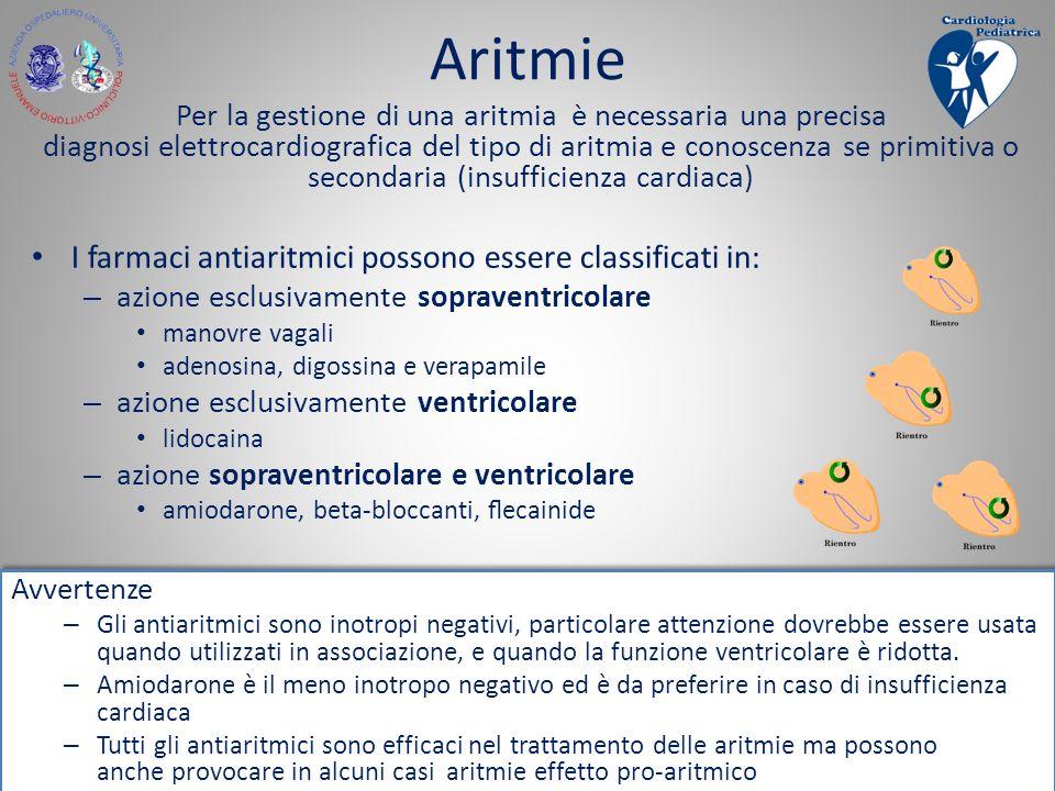 U.O.C. Cardiologia Pediatrica Ferrarotto CT Per la gestione di una aritmia è necessaria una precisa diagnosi elettrocardiografica del tipo di aritmia