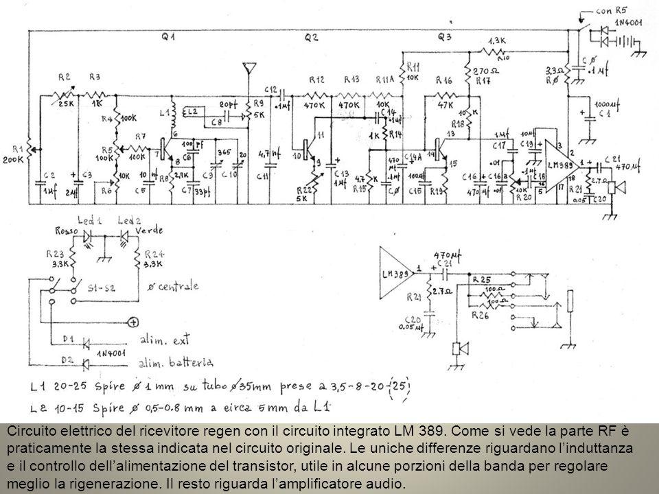Piano esecutivo pratico di montaggio dei componenti nella basetta mille-fori con le coordinate degli ancoraggi e le indicazioni del cablaggio circuitale