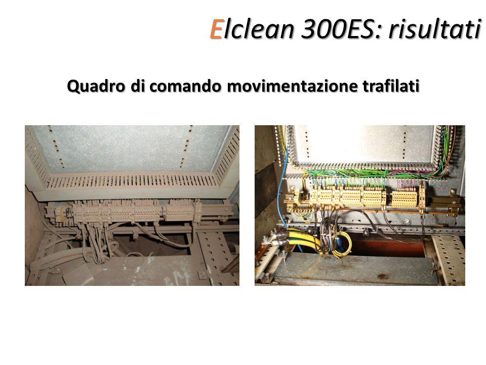 Elclean 300ES: risultati Quadro di comando movimentazione trafilati