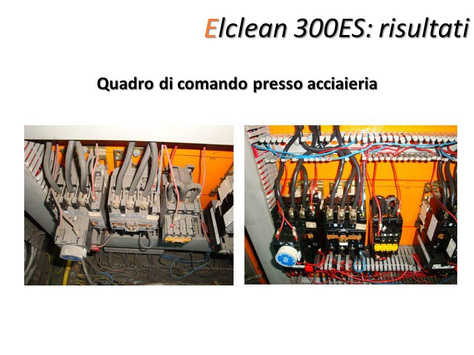 Elclean 300ES: risultati Quadro di comando presso acciaieria
