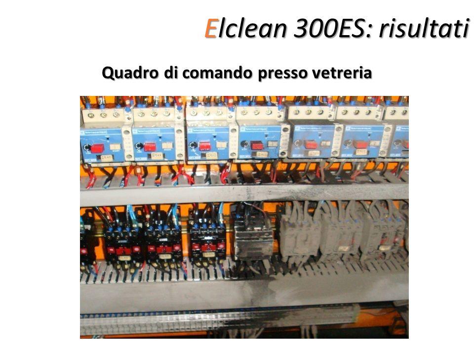 Elclean 300ES: risultati Quadro di comando presso vetreria
