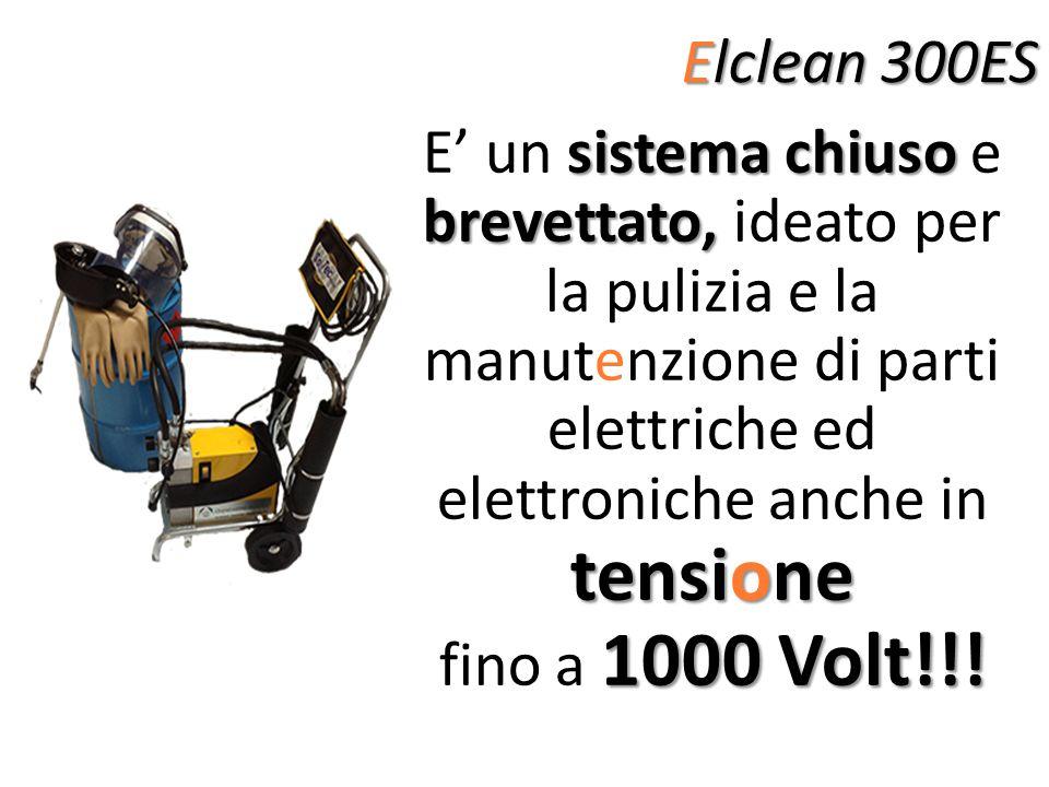 Elclean 300ES sistema chiuso brevettato, tensione E un sistema chiuso e brevettato, ideato per la pulizia e la manutenzione di parti elettriche ed ele