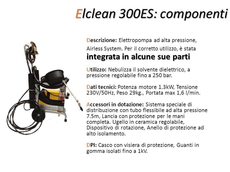 Elclean 300ES: componenti integrata in alcune sue parti Descrizione: Elettropompa ad alta pressione, Airless System. Per il corretto utilizzo, è stata