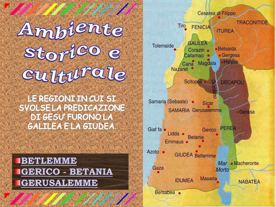 BETLEMME GERICO - BETANIA GERUSALEMME