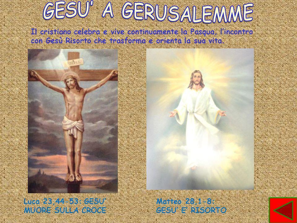 Il cristiano celebra e vive continuamente la Pasqua, lincontro con Gesù Risorto che trasforma e orienta la sua vita.