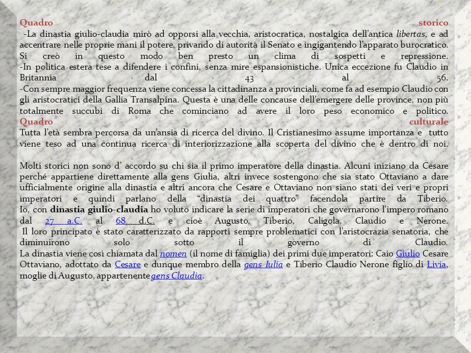Proclamazione di Claudio imperatore, di Lawrence Alma-Tadema; Claudio fu trovato nascosto dietro una tenda dai pretoriani, che lo nominarono imperatore.