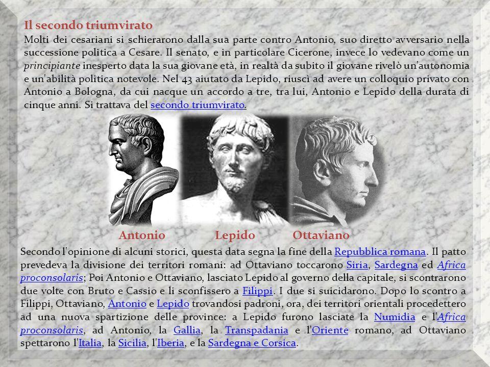 Successivamente Ottaviano cercò un intesa con Sesto Pompeo.