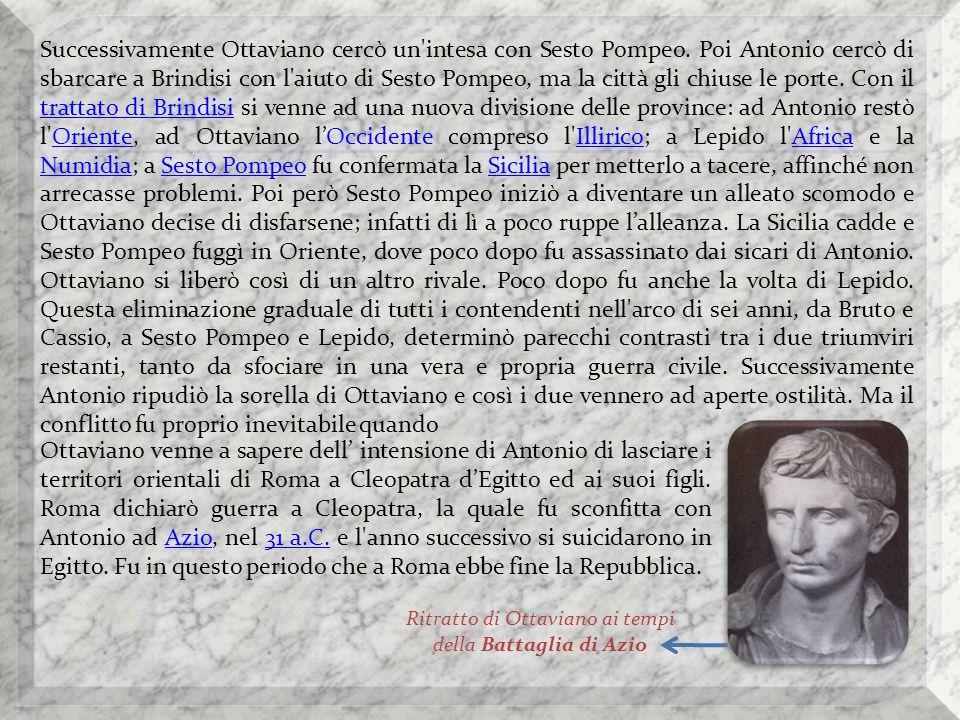 Aureo raffigurante Antonio ed Ottaviano.