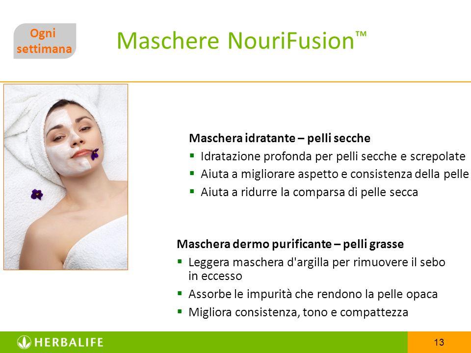 13 Maschere NouriFusion Maschera idratante – pelli secche Idratazione profonda per pelli secche e screpolate Aiuta a migliorare aspetto e consistenza