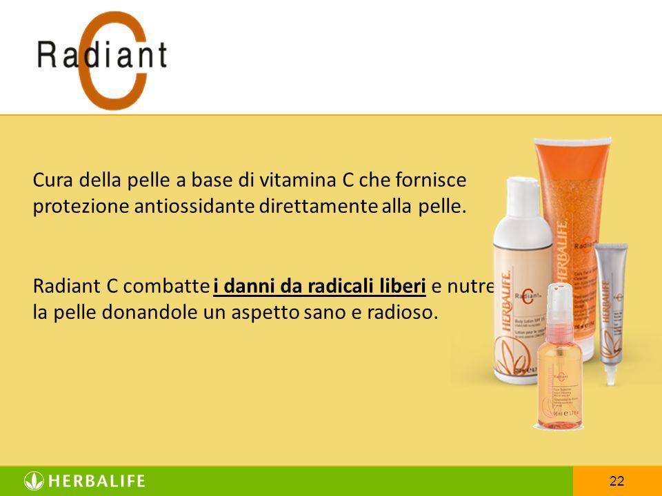 22 Cura della pelle a base di vitamina C che fornisce protezione antiossidante direttamente alla pelle. Radiant C combatte i danni da radicali liberi
