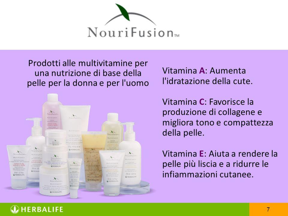 7 Prodotti alle multivitamine per una nutrizione di base della pelle per la donna e per l'uomo Vitamina A: Aumenta l'idratazione della cute. Vitamina