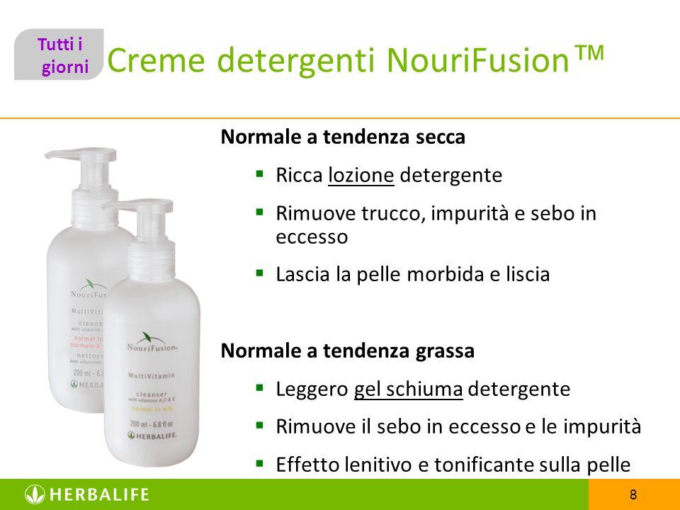 8 Creme detergenti NouriFusion Normale a tendenza secca Ricca lozione detergente Rimuove trucco, impurità e sebo in eccesso Lascia la pelle morbida e
