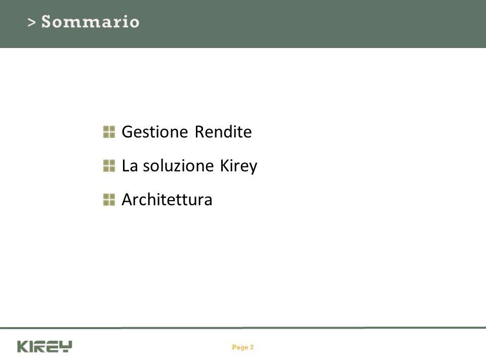 Page 2 Gestione Rendite La soluzione Kirey Architettura