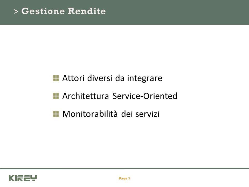 Attori diversi da integrare Architettura Service-Oriented Monitorabilità dei servizi Page 3