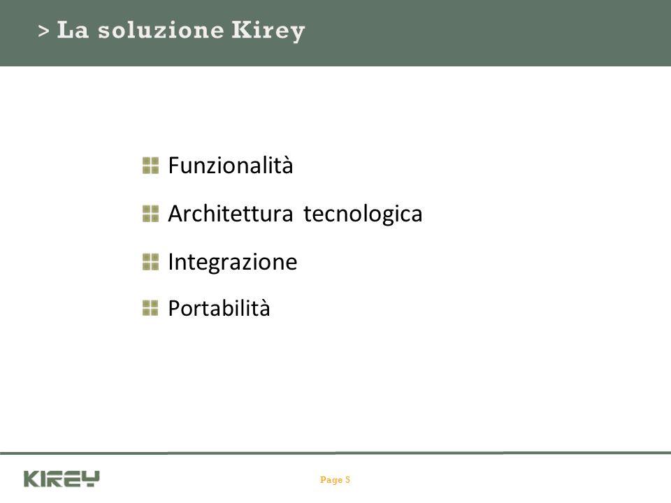 Funzionalità Architettura tecnologica Integrazione Portabilità Page 5