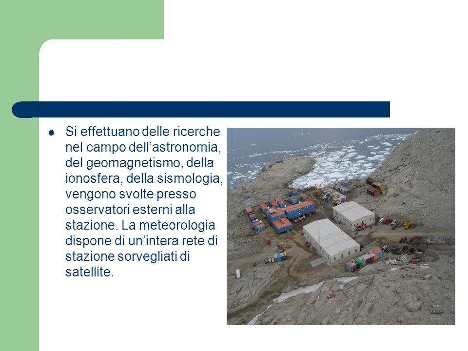 Si effettuano delle ricerche nel campo dellastronomia, del geomagnetismo, della ionosfera, della sismologia, vengono svolte presso osservatori esterni alla stazione.