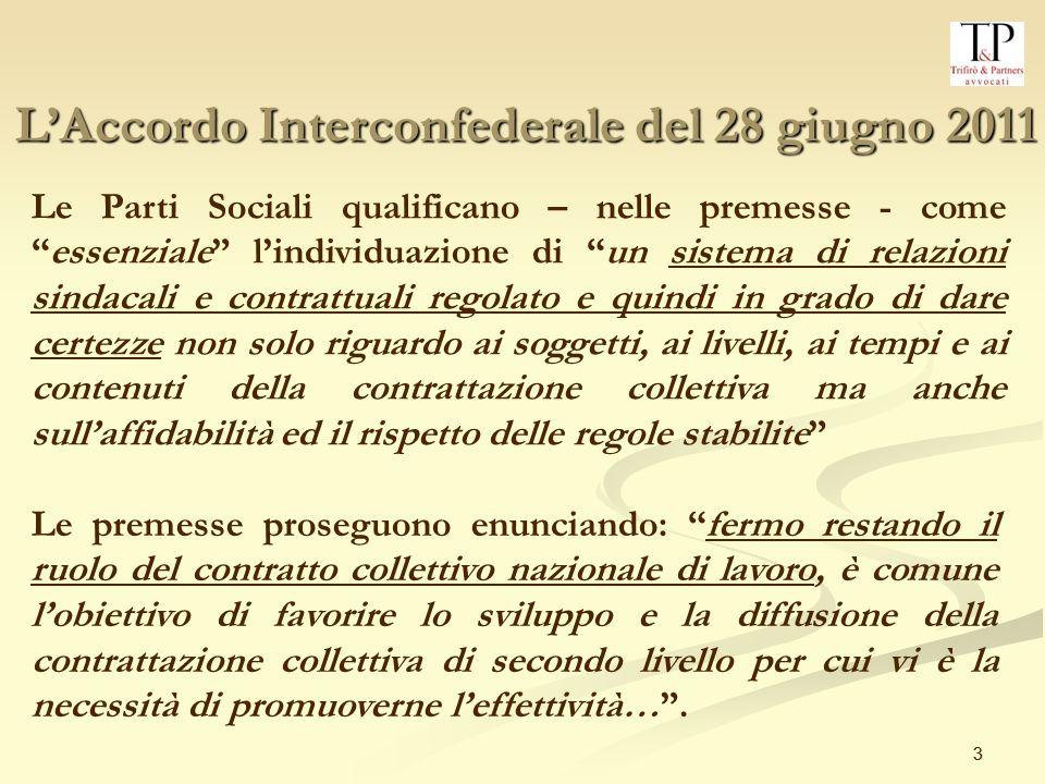 4 4 Punto 1) A.I.: Rappresentatività ai fini della contrattazione nazionale Il punto 1 dellA.I.