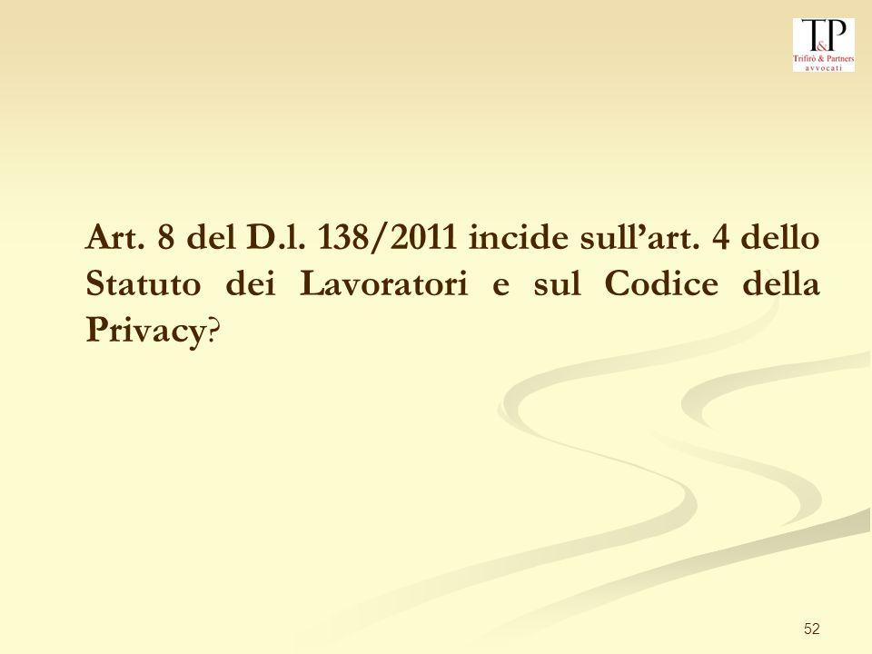 52 Art.8 del D.l. 138/2011 incide sullart.