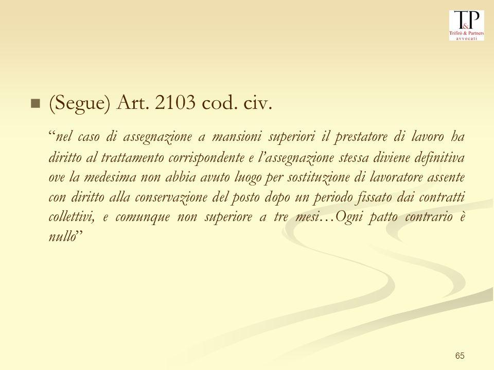 65 (Segue) Art.2103 cod. civ.