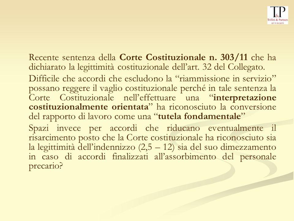 Recente sentenza della Corte Costituzionale n.