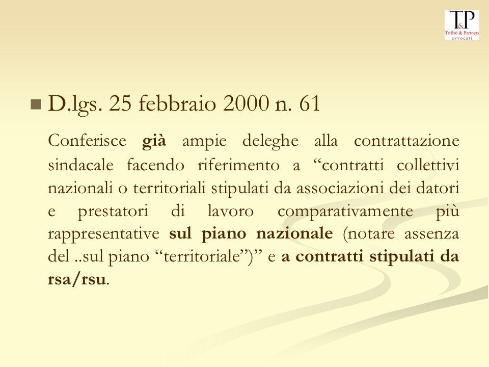 D.lgs.25 febbraio 2000 n.